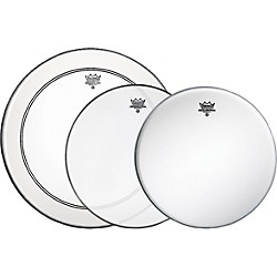Remo Gig Drumhead Pack With Free Ambassador Snare Side Head (PP-0690-BA)