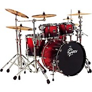 Gretsch Drums Renown 4-piece Fusion Shell Pack with 20 in. Bass Drum, Ruby Sparkle Fade