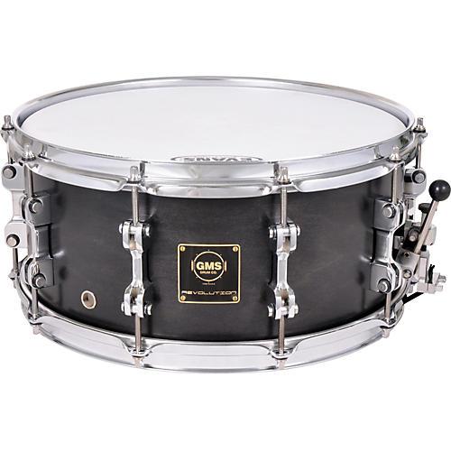 GMS Revolution Maple/Steel Snare Drum 7 x 13 Midnight Black-thumbnail