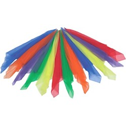 Rhythm Band 12 Colored Scarves (RB3004)