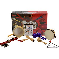Rhythm Band Bing Bang Boom 10 Player Rhythm Kit with Instructional Interactive DVD by Bradley Bonner (BB225RS)