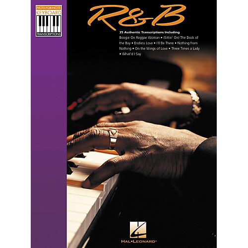 Hal Leonard Rhythm & Blues Note for Note Keyboard Songbook
