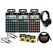Teenage Engineering Rhythm, Sub, and Factory Pocket Operators with Batteries, Headphones, and Cables