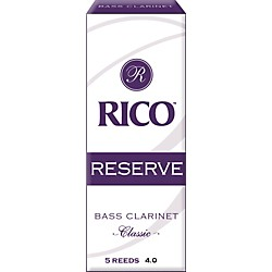 Rico Reserve Classic Bass Clarinet Reeds (RER0540)