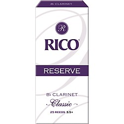 Rico Reserve Classic Bb Clarinet Reeds Box of 25 (RCT25355)