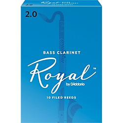 Rico Royal Bass Clarinet Reeds (REB1020)