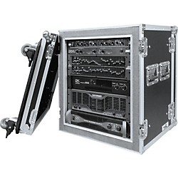 Road Ready RR12UADSW 12U Deluxe Shock Mount Amplifier Rack Case (RR12UADSW)