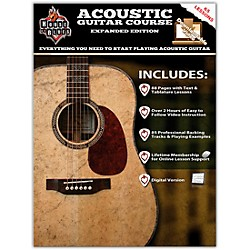 Rock House House Of Blues Acoustic Guitar Course Expanded Edition Book/2-DVD Set (14041785)