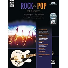 Alfred Rock & Pop Classics Guitar Play-Along Guitar TAB Book & CD-ROM Songbook