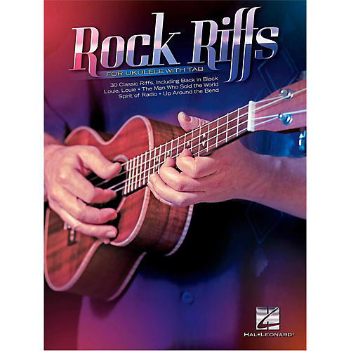 Hal Leonard Rock Riffs For Ukulele (with Tab)-thumbnail
