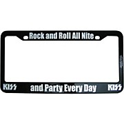 KISS Rock and Roll All Nite License Plate Frame