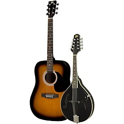 Rogue Acoustic Guitar and Mandolin Pack (RA-100D_RM-100A_SunB/Blk)