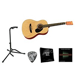 Rogue Beginner Acoustic Dreadnought 7/8 Guitar with Accessory Pack (Rogue BEG 7/8 BNDL NAT)