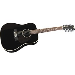 Rogue Herringbone 12-String Acoustic Guitar (SO-069-RADH12-BK)