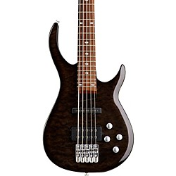 Rogue LX405 Series III Pro 5-String Electric Bass Guitar (LX405TBK)