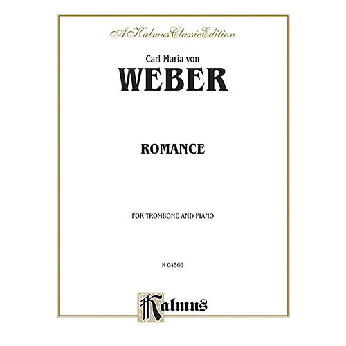 Alfred Romance for Trombone By Carl Maria von Weber Book-thumbnail