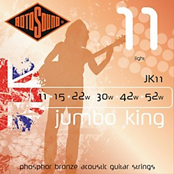 Rotosound Jumbo King Light Phosphor Bronze Acoustic Guitar Strings (JK 11)