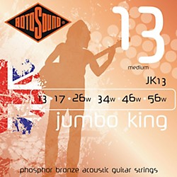 Rotosound Jumbo King Medium Phosphor Bronze Acoustic Guitar Strings (JK 13)