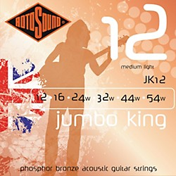 Rotosound Jumbo King Phosphor Bronze Acoustic Guitar Strings Medium Light (JK 12)
