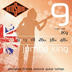 Rotosound Jumbo King Super Light Phosphor Bronze Acoustic Guitar Strings (JK 9)