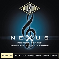Rotosound Nexus Polymer Extra Light Coated Acoustic Strings (NXA10-581799)