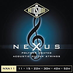 Rotosound Nexus Polymer Light Coated Acoustic Strings (NXA11-581800)