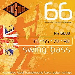Rotosound RS66LB Medium Light Long Scale Bass Strings (RS66LB)