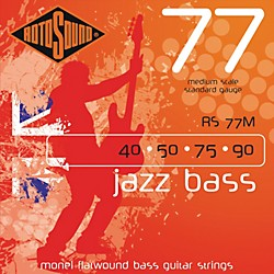 Rotosound RS77M Jazz Bass Monel Flat Wound Strings (RS77M)