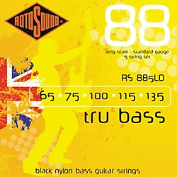 Rotosound RS885LD Trubass Black Nylon Flatwound Strings (RS885LD)