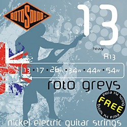 Rotosound Roto Greys Heavy Electric Guitar Strings (R13)