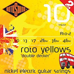 Rotosound Roto Yellows Double Deckers 2-Pack (R10-2)
