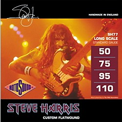Rotosound SH77 Steve Harris Signature Flat Wound Bass Strings (SH77)