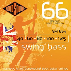 Rotosound SM665 Swing Bass 5-String RoundwoundBass Strings (SM665)