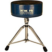 Pork Pie Round Throne Blue Sparkle with Black Crush Top