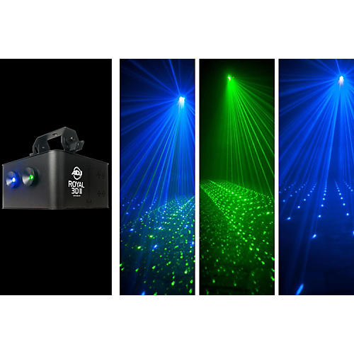 American DJ Royal 3D MKII Blue/Green Laser Effect-thumbnail