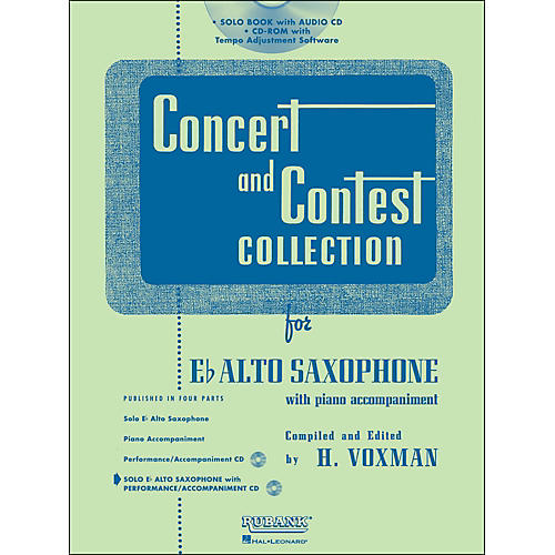 Hal Leonard Rubank Concert And Contest Collection Alto Sax Book/CD