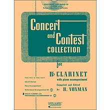 Hal Leonard Rubank Concert And Contest Collection Clarinet Book/CD