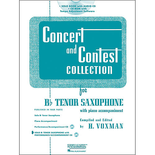 Hal Leonard Rubank Concert And Contest Collection Tenor Sax Book/CD-thumbnail