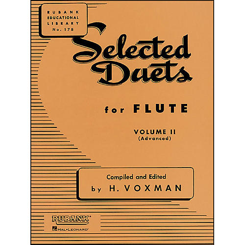 Hal Leonard Rubank Selected Duets for Flute Vol 2 Advanced