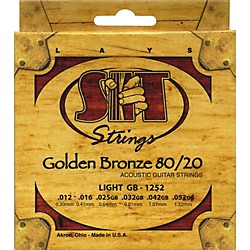 SIT Strings GB1252 Golden Bronze 80/20 Light Strings (GB-1252)