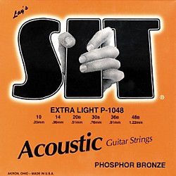 SIT Strings P-1048 Phosphor Extra Light Acoustic Guitar Strings (P-1048)