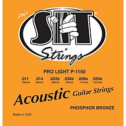 SIT Strings P1150 Pro Light Phosphor Bronze Acoustic Guitar Strings (P1150)