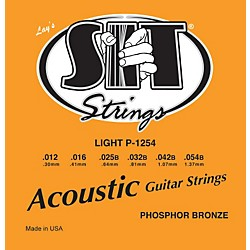 SIT Strings P1254 Light Phosphor Bronze Acoustic Guitar Strings (P1254)