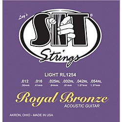 SIT Strings RL1254 Light Royal Bronze Acoustic Guitar Strings (RL1254)