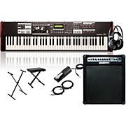 Hammond SK1-73 73-Key Pro Digital Keyboard/Organ with Keyboard Amp, Stand, Headphones, Bench & Sustain Pedal