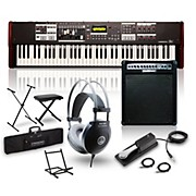 Hammond SK1-73 73-Key Pro Digital Keyboard/Organ with Keyboard Amp, Stand, Headphones, Bench & Sustain Pedal