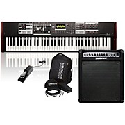 Hammond SK1-73 Stage Keyboard with Accessory Pack, Keyboard Amplifier, and Sustain Pedal