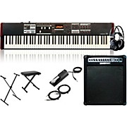 Hammond SK1-88 88-Key Pro Digital Keyboard/Organ w/ Keyboard Amp, Stand, Headphones, Bench & Sustain Pedal