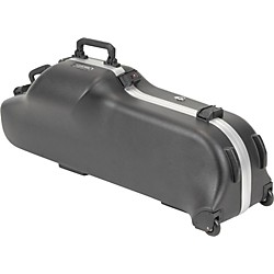 SKB Model 455W Universal Baritone Sax Case with Wheels (1SKB-455W)