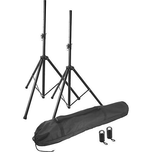 On-Stage Stands SSP7855 Professional Speaker Stand Pak Black